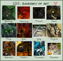 2012 Art Summary by X-x-Magpie-x-X