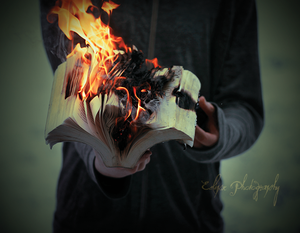 Burning words by EclipxPhotography