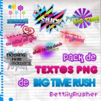 Pack textos PNG Big Time Rush by BettiiyRusher