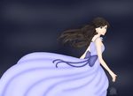 Girl in Periwinkle dress by blackmoonrose13