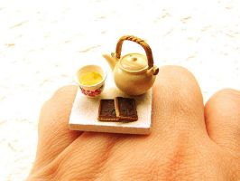 Tea Pot Cup Chocolate Ring by souzoucreations