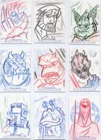 Star Wars-Galactic Files Sketch Cards #5 by mikehampton