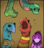 Sketch A Day_037|Puppet Sock Party by shy4