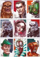 Star Wars Sketch Cards part 2 by Chad73