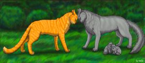 Fireheart and Graystripe by Vialir