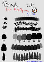Brush set for FireAlpaca by WKwC