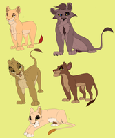 Lion King adoptables Part 3- FOR POINTS by Elennaaa