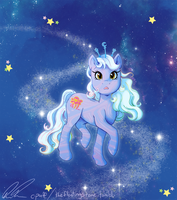 Blue Celestial Pony by C-Puff