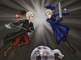 A.P.Hetalia: Sweden vs Denmark by Lord-Evell