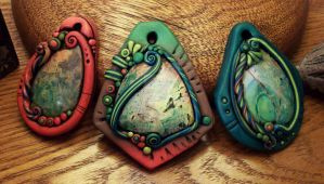 Sonora Sunrise Jasper Pendants by MandarinMoon