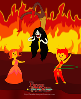 Im Flame princess and He is my friend Flambo by hendocrinogeno