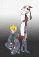 The Hokage and her Right Hand Man by witchofoz93