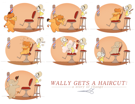 Wally Gets A Haircut by rollingrabbit
