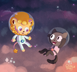 Steven Universe - Cookie Cat and Lion Lickers by Sunnynoga