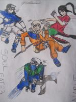 Soul eater: Naruto style by donkeyshygal