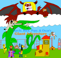 Harchi, Buck, Popy, and Oscar's Giant Adventure by jacobyel