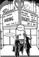 Lettering Thursday night fight page 1 by TheNormal1