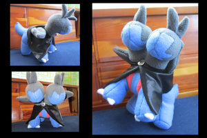 Caped Zweilous Plushie by DragonwolfRooke