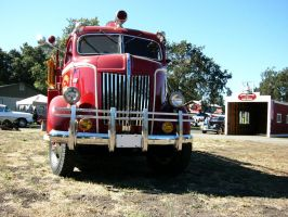 The Face of a Ford COE Fire Truck by RoadTripDog
