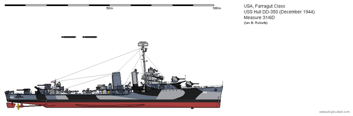 USS Hull DD-350 (December 1944) - Measure 31/6D by ColosseumSB