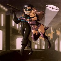 Nightwing and Starfire by Josh-Ulrich