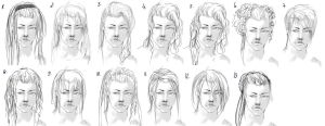 Hairstyle sketch by Fayerin