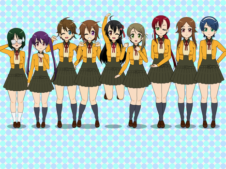 LLSIF KISEKAE - TOUOU ACADEMY by SRM-Will-Never-Die