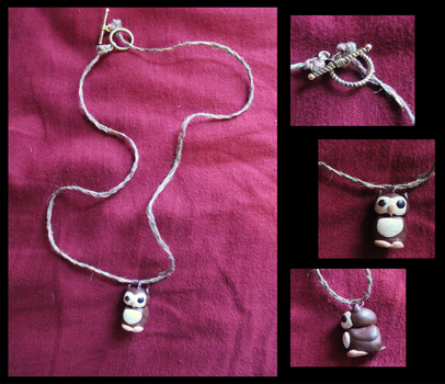 Owl Necklace by pandafairy92