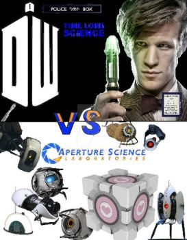 Time Lord Science vs. Aperture Science - Recolored by Mars075