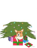 Corgi Christmas by Kyramoonunique