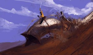 Kirk, Dune and a Sword. by Zedig