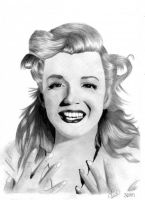 Marilyn Monroe by Clauwdy