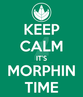 Keep Calm It's Morphin Time (Green) by RussJericho23