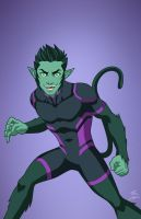 Beast Boy (Earth-27) commission by phil-cho