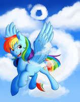 Rainbow Dash Bronycon by RoolosDoodleDen