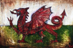 Draig Goch - Red Dragon by RhynWilliams