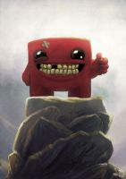 Super Meat Boy portrait by Sa-chan1603