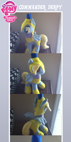 Commander Derpy Hooves Plush by MintyStitch