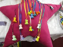 Pony clay charms by MissGriss
