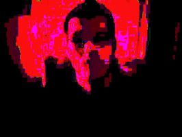 Manipulated Selfie 199: Red, Pink, and Black by TheSkull31