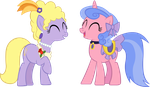 MLP - FiM: Lyrica and Violet by YellowTDash