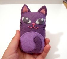 Ugly purple cat by yael360