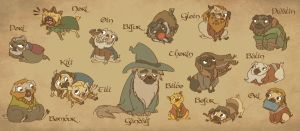 The Hobbit - Company of Pugs by sunami56