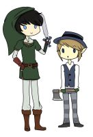 Oncie and Link by kaary