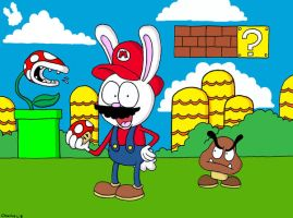 Mario Bunny by AbominationBurger