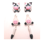 Cute kawaii cow earrings by MiniSweetx