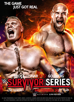WWE Survivor Series 2016 Official Poster by SidCena555