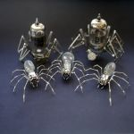 Mechanical Spiders made from watch parts by AMechanicalMind