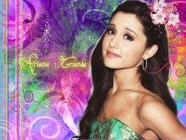 Ariana Grande Background by Yvesia