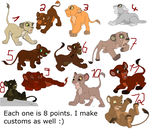 TLK cub Adopts 2 _OPEN_ by MichelleTheCat